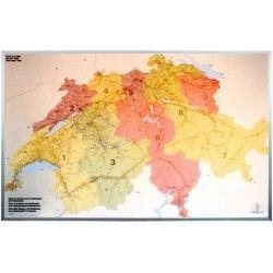Postcodekaart Zwitserland 1:260.000