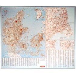 Postcodekaart Denemarken 1:500.000