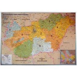 Postcodekaart Hongarije 1:400.000
