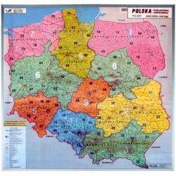 Postcodekaart Polen 1:750.000