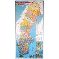 Postcodekaart Zweden 1:1.200.000