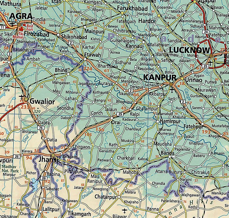 Landkaart India