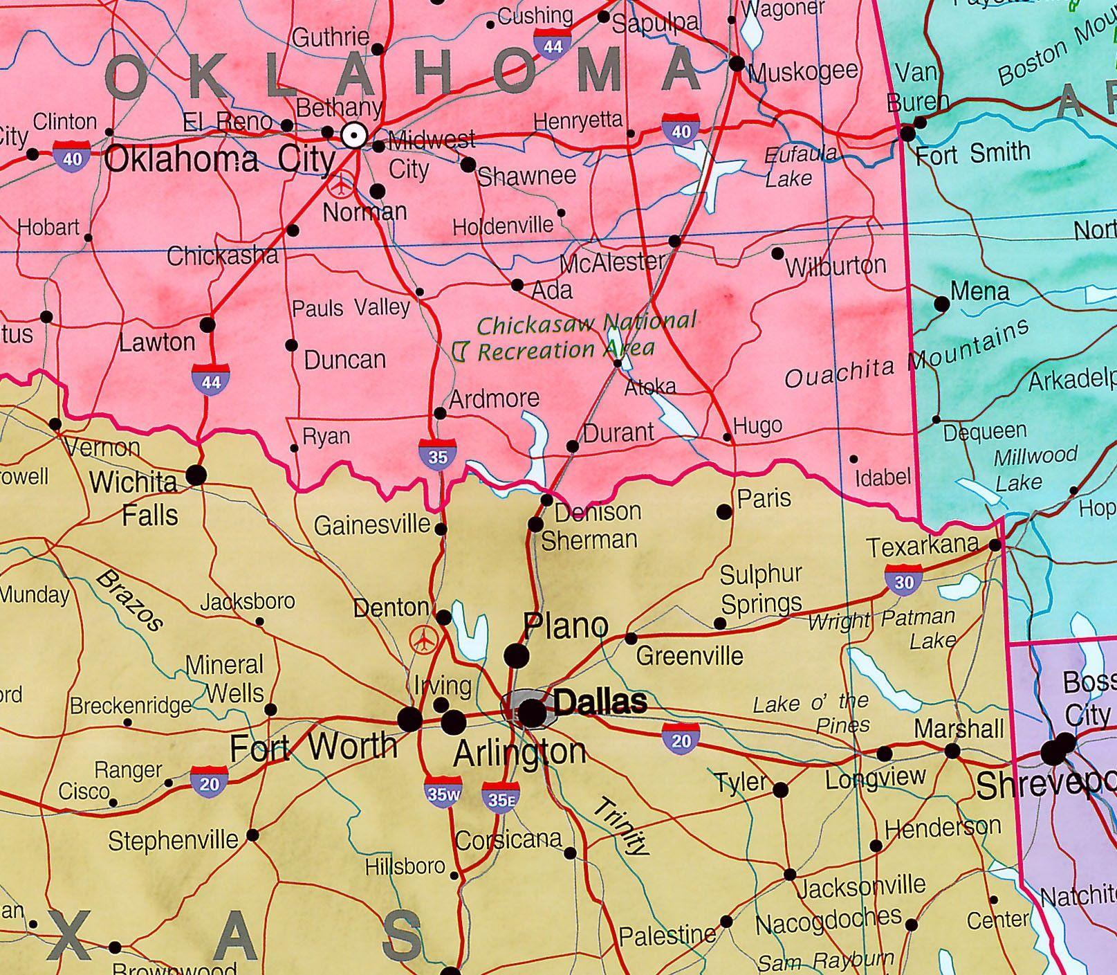 Landkaart Verenigde Staten (Maps)