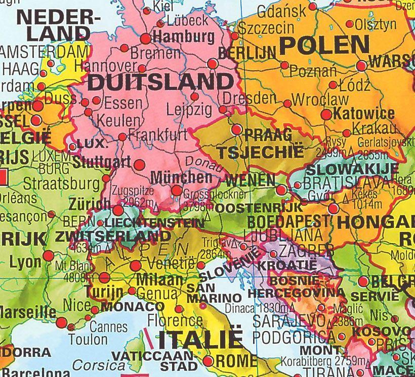Wereldkaart LNederlandstalig