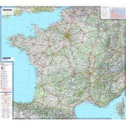 Landkaart Frankrijk 1:1.000.000 met plaatsnamenregister