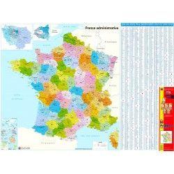 Postcodekaart Frankrijk 1:1.000.000