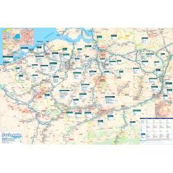 Waterwegen Belgie 1:250.000