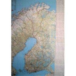 Landkaart Finland 1:1.000.000 met plaatsnamenregister