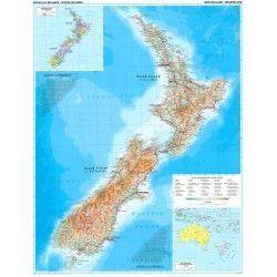 Landkaart Nieuw Zeeland
