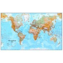 Wereldkaart F Natuurkundig