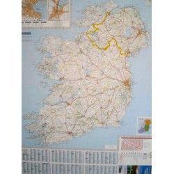 Landkaart Ierland 1:400.000 met plaatsnamenregister