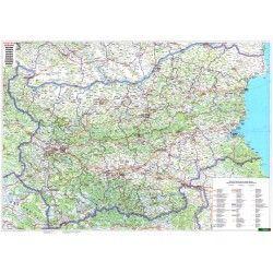 Landkaart Bulgarije 1:400.000 met plaatsnamenregister