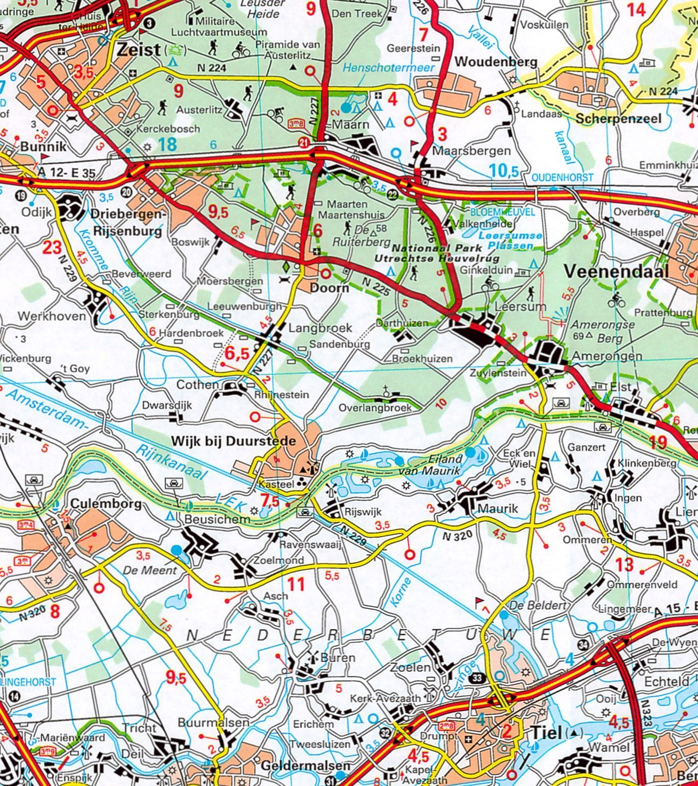 Landkaart Nederland Groot
