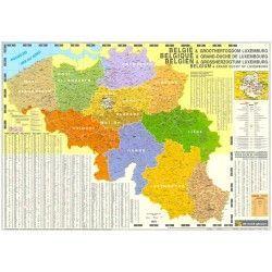 4-cijferige Postcodekaart België 1:250.000