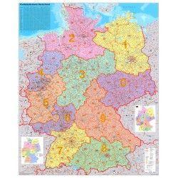 5-cijferige Postcodekaart Duitsland 1:750.000