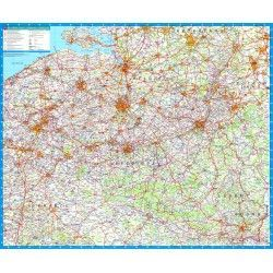 Landkaart Belgie Falk 1:250.000 met plaatsnamenregister