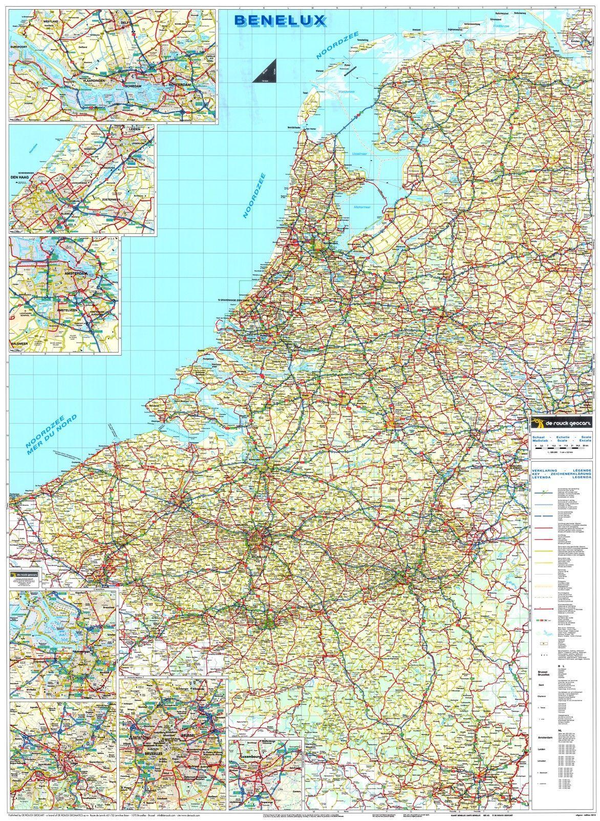 Landkaart Benelux