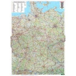 Landkaart Duitsland 1:700.000 met plaatsnamenregister