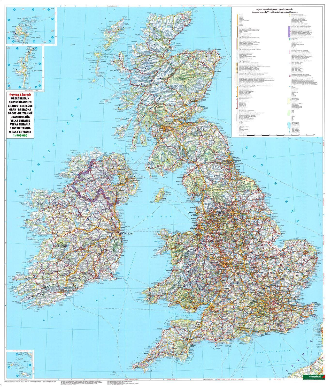 Landkaart Engeland