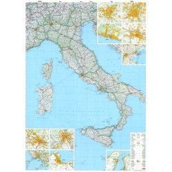 Landkaart Italie 1:1.000.000 met plaatsnamenregister