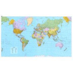 Wereldkaart C Kummerly & Frey Staatkundig 1:23.000.000