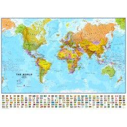 Wereldkaart KEngelstalig Maps International Staatkundig 1:30.000.000