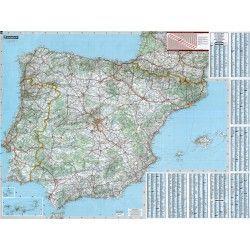 Landkaart Spanje 1:1.000.000 met plaatsnamenregister