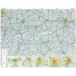Landkaart Oostenrijk 1:500.000 met plaatsnamenregister