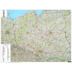 Landkaart Polen 1:700.000 met plaatsnamenregister