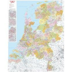 3-cijferige Postcodekaart Nederland