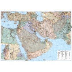 Landkaart Midden-Oosten 1:4.000.000