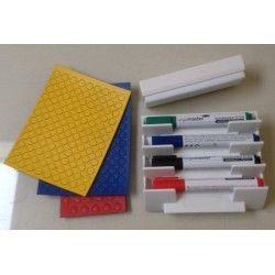Startersset middel (3set ronde magneten,1 set stiften,1 stiftenhouder en 1 borstel)