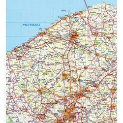 Provincie kaart West Vlaanderen 1:100.000
