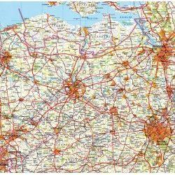Provincie kaart Oost Vlaanderen 1:100.000