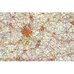 Provincie kaart Belgisch Brabant 1:100.000