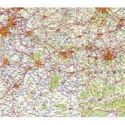 Provincie kaart Henegouwen 1:100.000