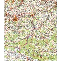 Provincie kaart Namen 1:100.000