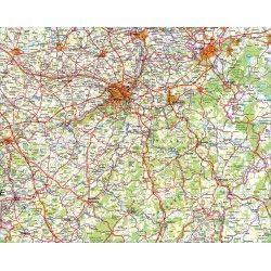 Provincie kaart Luik 1:100.000