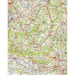 Provincie kaart Luxemburg 1:100.000