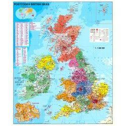 Postcodekaart Groot Brittannie 1:1.200.000