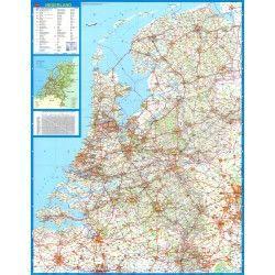 Landkaart Nederland Falk 1:250.000 met plaatsnamenregister