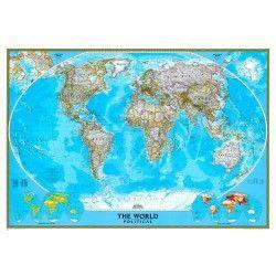 Wereldkaart H National Geographic Staatkundig 1:22.000.000