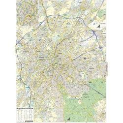 Stadsplattegrond Brussel schaal 1:17.500 met straatnamenindex