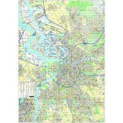 Stadsplattegrond Antwerpen 1:17.500 met straatnamenregister