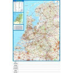 Landkaart Nederland Falk 1:250.000 met weekplanning met plaatsnamenregister