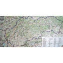 Landkaart Slowakije 1:400.000 met plaatsnamenregister
