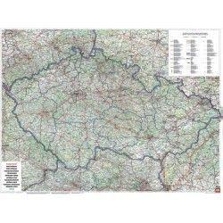 Landkaart Tsjechie 1:400.000 met plaatsnamenregister