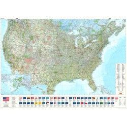 Landkaart Verenigde Staten van Amerika Hallwag 1:3.800.000