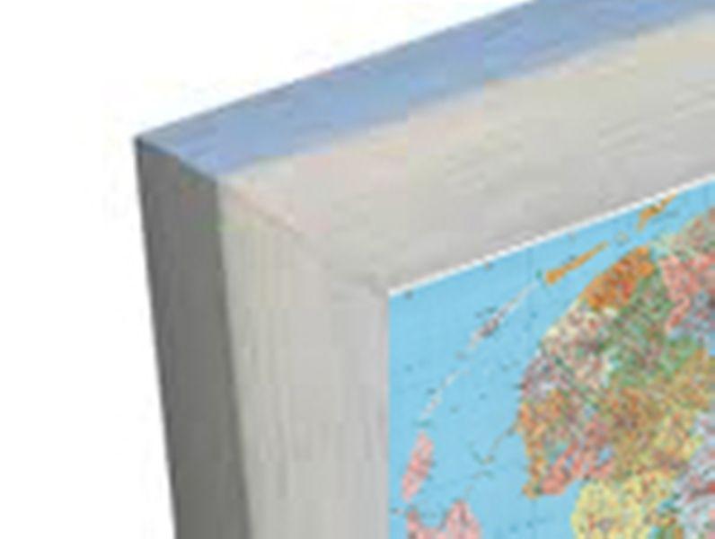 aluminium lijst landkaart
